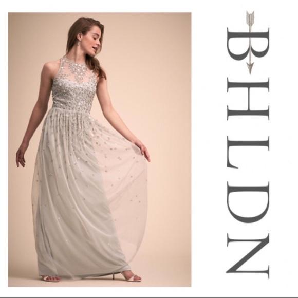 4ea0090893475 BHLDN Dresses | Ginny Embellished Bridesmaid Dress In Fog 4 | Poshmark